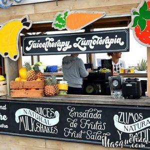 MasQueTiza 10d Pizarras y carteles de madera Chiringuito Las Salinas Canarias Carteles de madera Pizarras Rotulación artística Tenerife