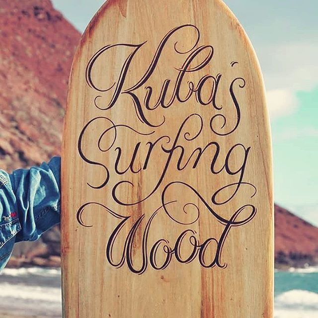MasQueTiza 13 Pirograbados Tabla de surf Alaia Canarias Carteles de madera Rotulación artística Tenerife