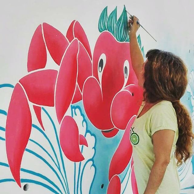Masquetiza Rotulación a mano Pintura mural Decoración Colegio La Cumbrita Canarias Decoración Murales Rotulación a mano Tenerife