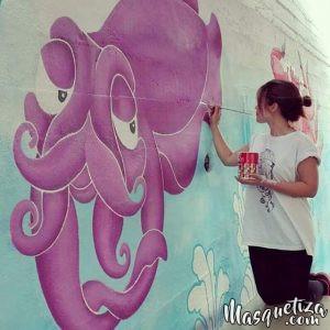 MasQueTiza 15e Rotulación a mano Pintura mural Decoración Colegio La Cumbrita Canarias Decoración Murales Rotulación a mano Tenerife