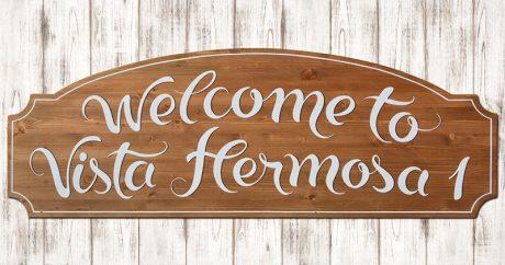 MasQueTiza - Carteles de madera, Rotulación a mano - Urbanización Vista Hermosa, Canarias - Carteles de madera, Rotulación a mano - Rotulación artesanal Tenerife Sur, Canarias - 1A