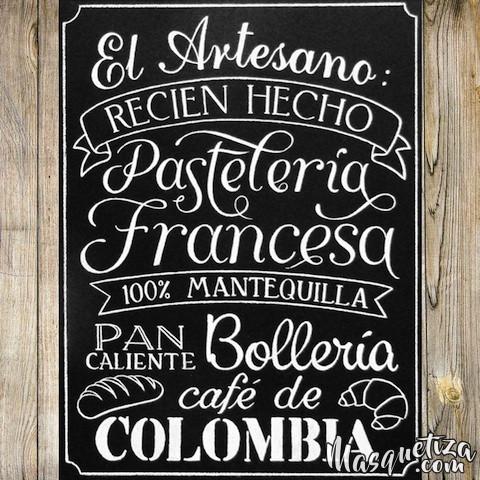 MasQueTiza 16a Pizarras El Artesano Pastelería Panadería Canarias Pizarras Rotulación a mano Tenerife