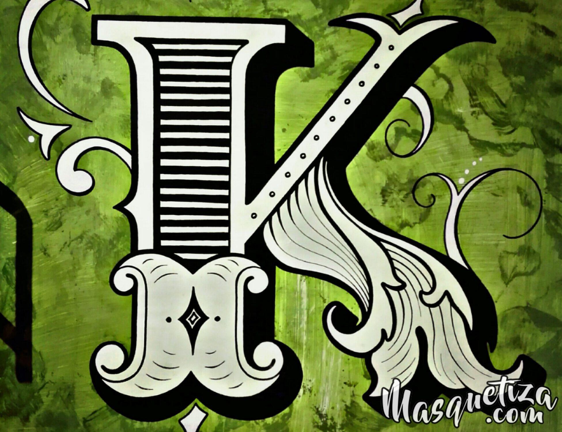MasQueTiza Lettering, Rotulación a mano, Tenerife. Pintura Mural. Kaleidoscopio Espacio Artístico