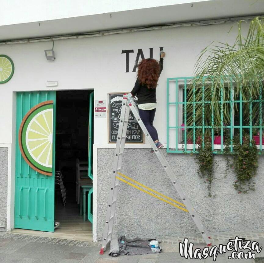 Rotulacion Lettering Vintage Pintado a mano Work in progress Murales Tenerife