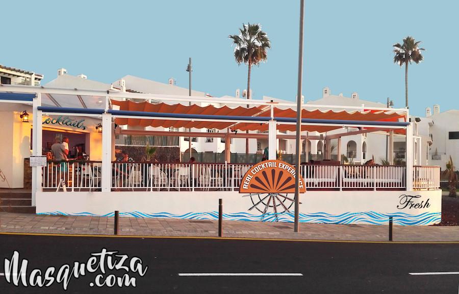 Cartelería Artesanal, Rotulación. Cartel de Madera, Fresh Torviscas, Tenerife.