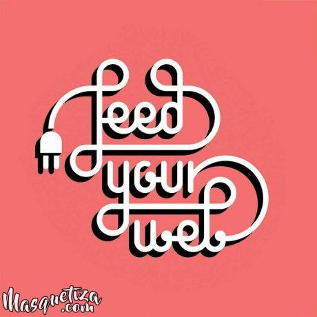 diseño-grafico-lettering-logo-feed-your-web-masquetiza-tenerife