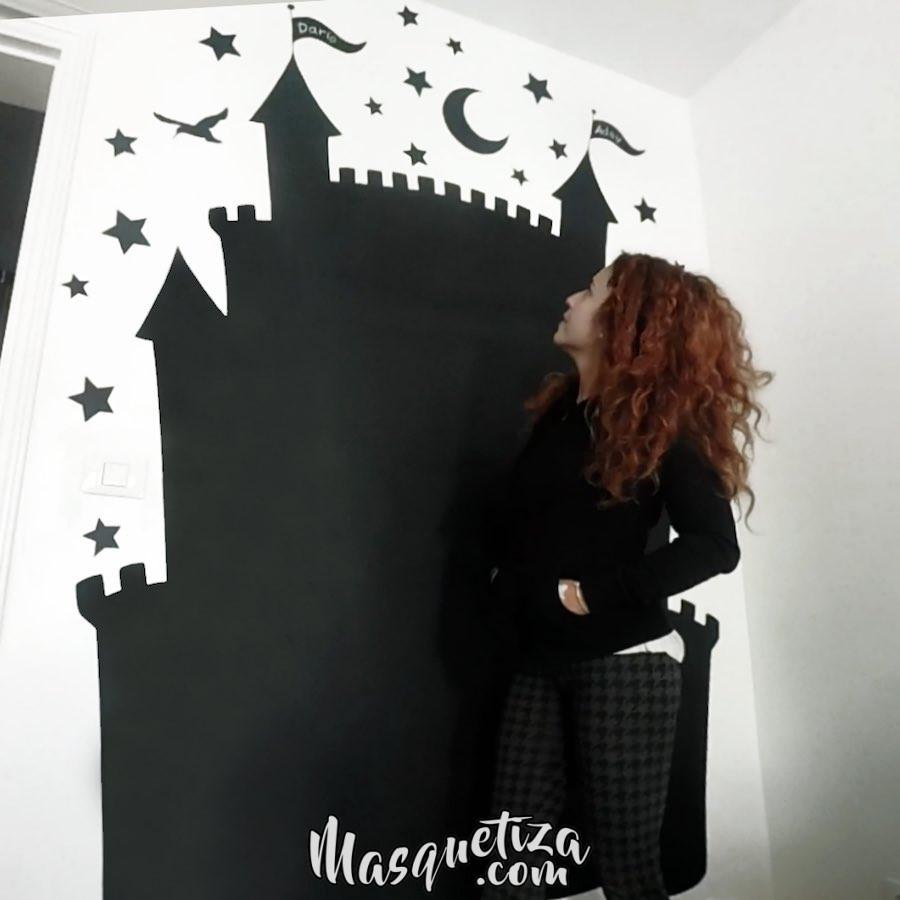 pintura-mural-pizarra-decoracion-de-interiores-diseño-personalizado-masquetiza