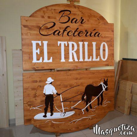 Carteles de Madera y Diseño de Logo El Trillo Masquetiza Tenerife