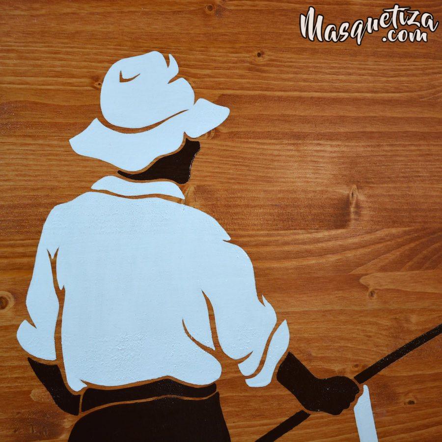 Cartel de Madera y Diseño de Logo El Trillo Masquetiza Tenerife