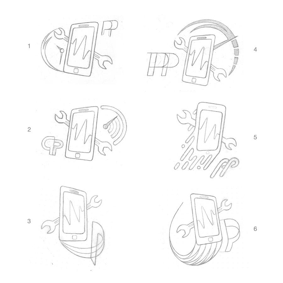 Bocetos para Logo Tumovilya.com Masquetiza Gran Canaria