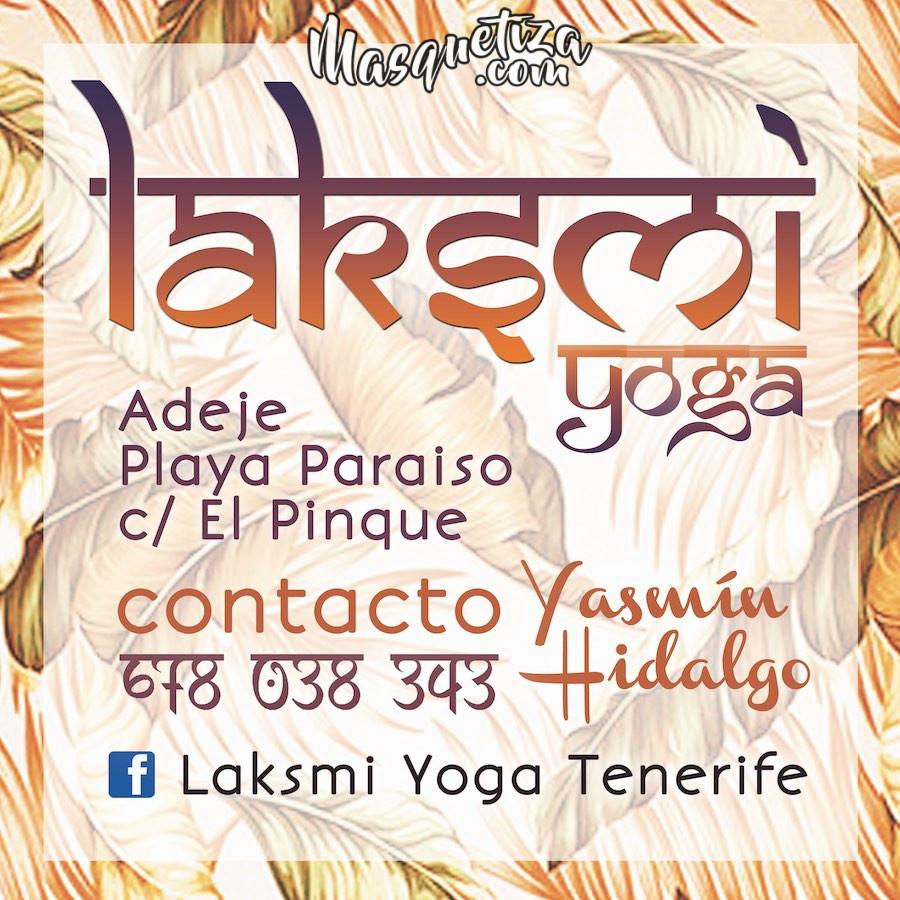 Diseño Gráfico Tarjeta de visita Laksmi Yoga Tenerife Masquetiza