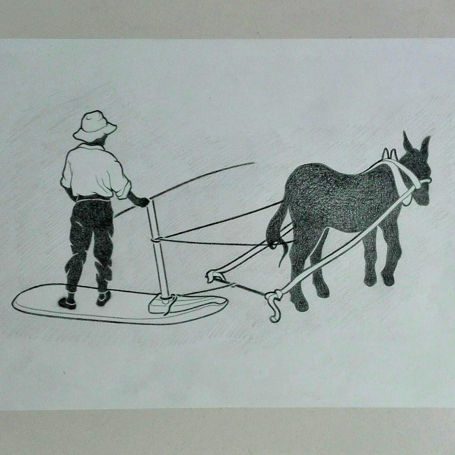 Boceto para Diseño de Logo Vintage El Trillo Tenerife
