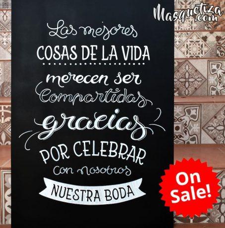 en-venta-cartel-de-madera-pizarra-para-bodas-masquetiza.com