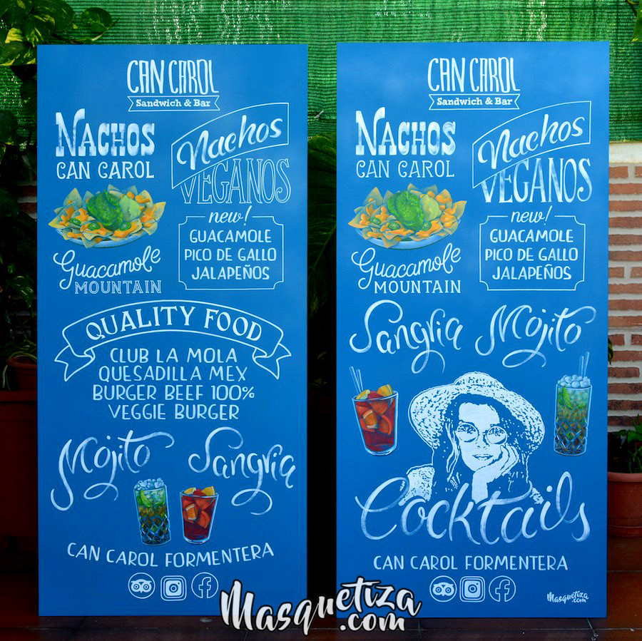 pizarra-pintada-a-mano-lettering-carteles-de-madera-masquetiza.com