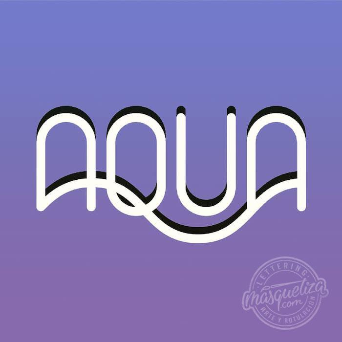 lettering-diseño-de-logo-aqua-fisioterapia-asturias-diseño-grafico-tenerife